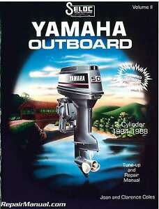 1984-1988 Yamaha 3 Cylinder Outboard Engine Repair Manual by Seloc : SL1702-0...