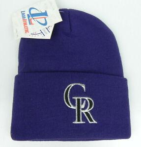 COLORADO-ROCKIES-PURPLE-MLB-CUFFED-VINTAGE-KNIT-SKI-BEANIE-WINTER-CAP-HAT-NEW