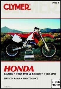 clymer service repair manual honda cr250r 1988 1991 cr500r 1988 rh ebay com Honda CRF 450 Honda CR 750