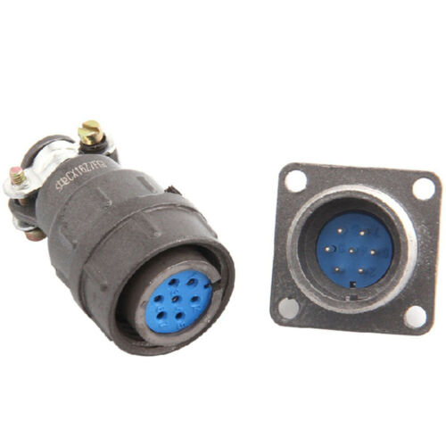 2Pcs 7P 16mm Plug-in Unit CX16-7 Square Head Aviation Connector Plug Socket