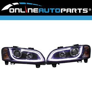 Holden Commdore VE 2006~8/2010 Headlights LED Projector DRL Pair BLACK inc HSV
