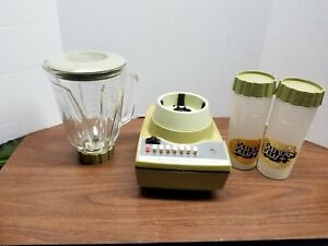 Avocado Green Hamilton Beach Scovill 14 Speed Blender Plus Retro