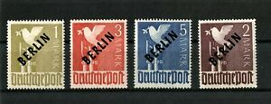 Berlin (West) 1949 Mi.Nr. 17-20 with Black Overprint - fine MNH ,SIGNED