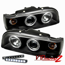 >> LED LIGHT BAR KIT<< Black Halo Projector Headlight Left+Right 93-97 Volvo 850