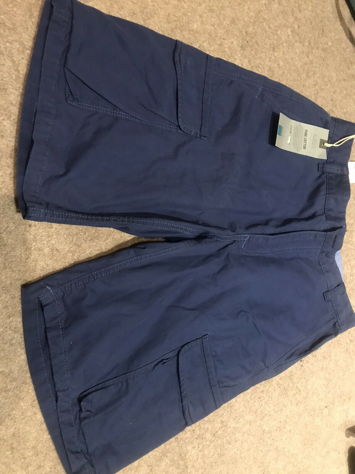 MARKS & SPENCERS MENS SHORTS SIZE 30 INCH WAIST BUE NEW