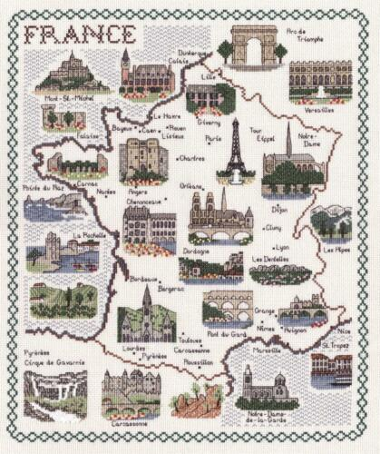 Counted Cross Stitch Map Kits Countries of the World