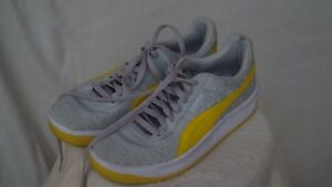 Puma-Size-10-Gray-and-Yellow-FREE-SHIPPING