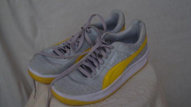 Puma - Size 10 - Gray and Yellow -- FREE SHIPPING!!