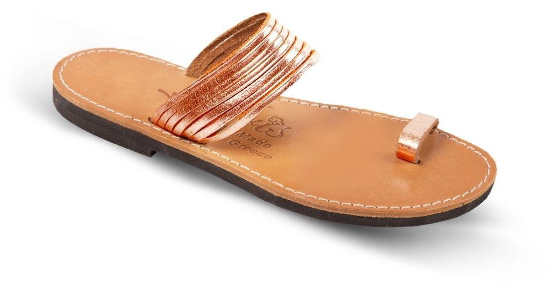 Sandalias De Cuero Genuino Genuino Genuino para Mujer Griego Antiguo Romano Gladiador Hecho a Mano Zapatos Talla  Los mejores precios y los estilos más frescos.