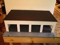 1/24 & 1/25 Scale 4 Bay Car Garage/work Shop Diorama G-scale ( Built )