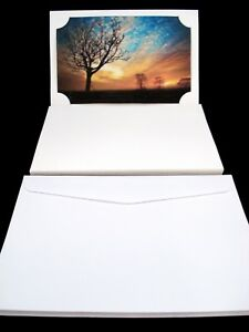 10 x Blank Photo Cards and Envelopes White Craft Invitation Gift POSTAGE