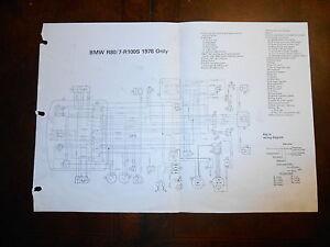 BMW OEM R80/7 R100 S R100 S 1978 Dealer Wiring Diagram | eBay