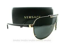 New Versace Sunglasses VE 2140 Black Gold 1002/87 Authentic