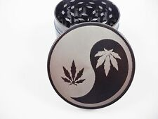 """Yin And Yang 2.2"""" Laser Etched 4 Piece Metal Herb Grinder"""