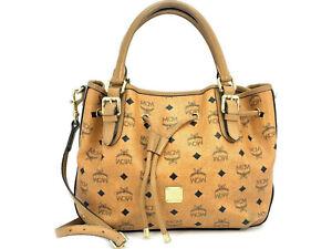 MCM Tasche Visetos Bag cognac Shopper Handtasche