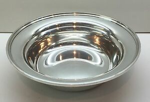 S-Kirk-amp-Son-Sterling-Silver-9-034-Round-Bowl-4105-CALVERT-OLD-MARYLAND-PLAIN