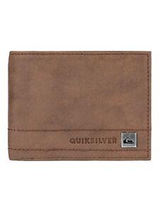 Quiksilver-Mens-Wallet-Stitchy-III-de-imitacion-de-cuero-marron-tarjeta-de-dinero-de-mano-8-W-690-BR