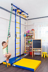 Kids home gym indoor swedish wall playground set for kids room