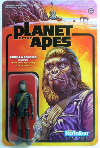 La Planète des Singes-Gorilla Soldier Reaction Figure Super 7 34375 Chasseur