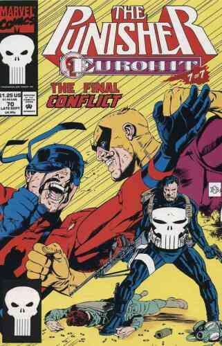 PUNISHER #70 VERY FINE// NEAR MINT 1992 MARVEL COMICS