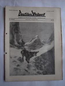 """Alte Berufe Willensstark Jagdzeitung""""deutsches Weidwerk""""38.jahrgang,heft 21 Von 1933,jagd,jagdhund,pirsch Duftendes Aroma"""
