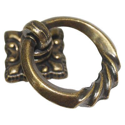 10 pack Vintage Bronze 35 mm Drop Ring Knobs Cabinet Drawer Handles ME-05