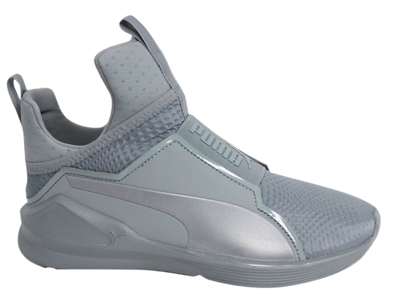 Puma Fierce Quilted 189418 Slip On Grau Textile Damenschuhe Trainers 189418 Quilted 02 M16 4a5867