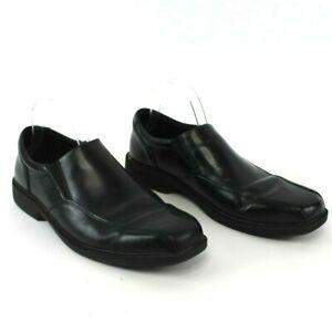 Nunn-Bush-Mens-Black-Dress-Shoes-84222-001-Size-10-5-Jefferson-Bike-Toe-Slip-On