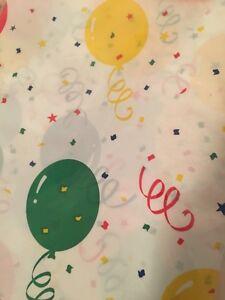 Birthday-Tablecloth-Balloon-Confetti-New-Rectangle-Plastic54-034-x108-034-Multi-Color