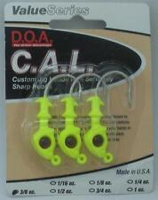 DOA 87420 Cal Jighead Chartreuse 3/8 Oz 20999