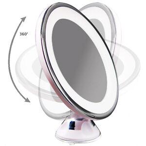 Image Is Loading 7x Magnifying Round LED Illuminated Bathroom Make Up