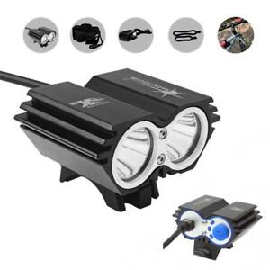 SolarStorm 20000LM CREE XM-L T6 LED Bicycle Torch Headlight +Battery US SHIPPING