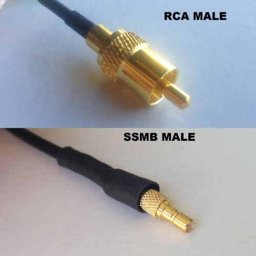 RG316 RCA MALE to SSMB Male Coaxial RF Cable USA-US