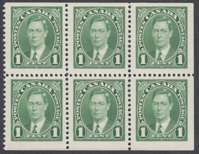 Canada - #231b King George VI Booklet Pane - MNH
