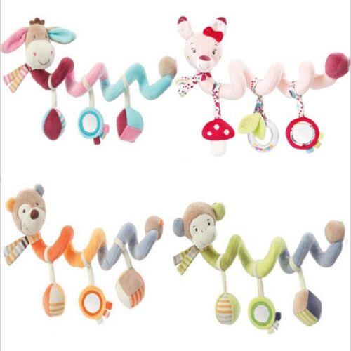 Baby Developmental Toy Crib Spiral Animals Rattle Cot Pram Stroller Infant Gifts