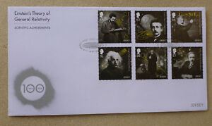 2016-JERSEY-EINSTEIN-100tH-ANNIV-RELATIVITY-SET-OF-6-STAMPS-FDC-FIRST-DAY-COVER