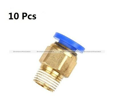 10Pcs Push In Fitting For 4mm OD PTFE Tube For 3D Printer RepRap Bowden Extruder