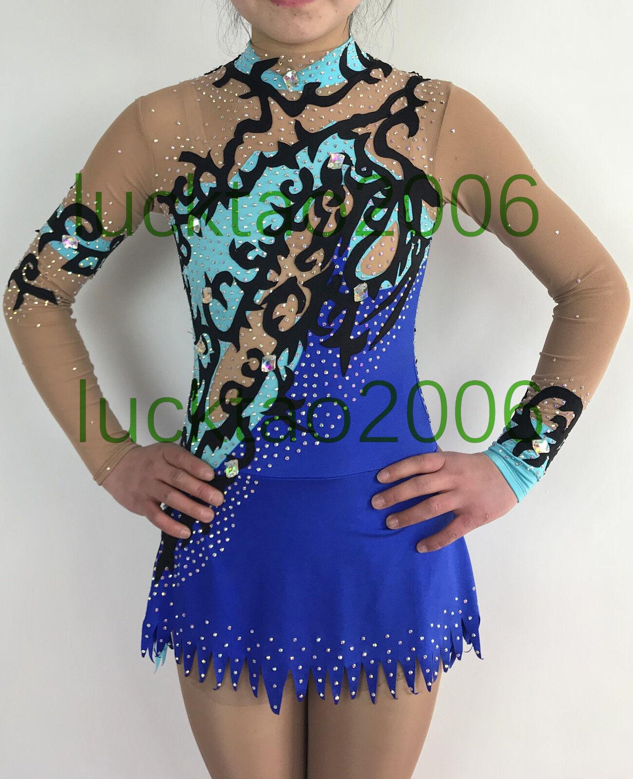 2018 ny stil Rytmisk gymnastik Leotards Ice Figur Skating Dress G507 -12