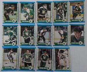 1989-90-O-Pee-Chee-OPC-Minnesota-North-Stars-Team-Set-of-14-Hockey-Cards