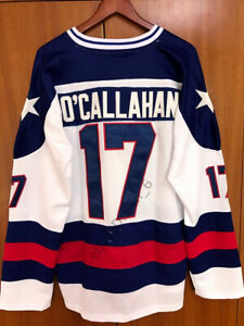 Jack-O-039-Callahan-17-1980-Miracle-On-Ice-USA-Men-039-s-Hockey-Jersey-White-Stitched