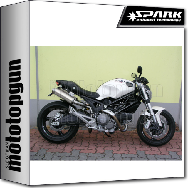 SPARK 2 EXHAUSTS ROUND RACING INOX HIGH DUCATI MONSTER 696 2010 10 2011 11