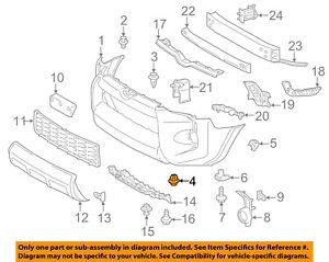 TOYOTA OEM 10-16 4Runner Front Bumper-Cover Retainer Clip or Bracket 5211635140