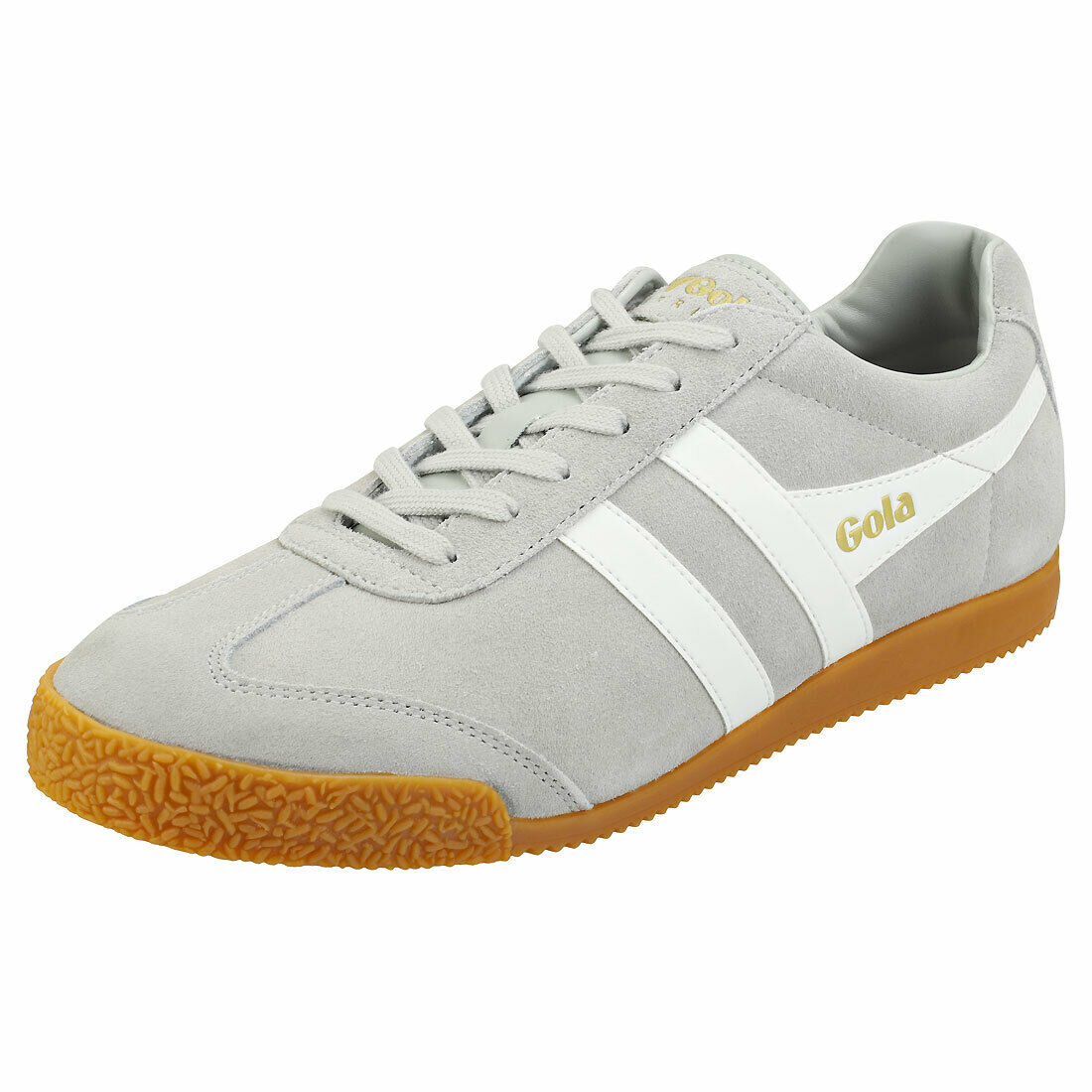 Gola Harrier Mens Light grau Weiß Suede Casual Trainers