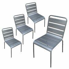 Chaises de jardin métal MONTMARTRE Gris x4