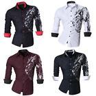 Jeansian Men's Fashion Slim Fit Long Sleeves Button Down Dress Shirts Z030