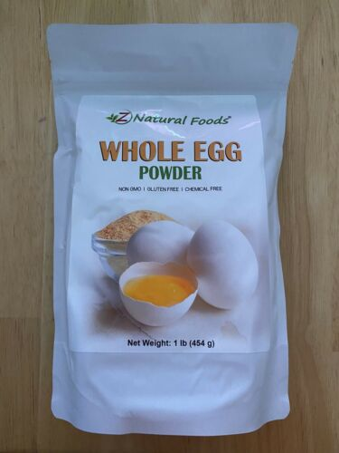 Details about  /Z Natural Foods Whole Egg Powder 1 lb Non GMOGluten FreeChemical Free