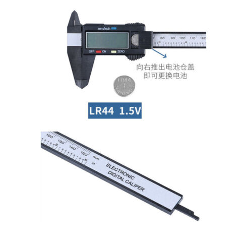 AutoTECH-150MM-6in LCD Digital Electronic Vernier Caliper Gauge-Micrometer Ruler