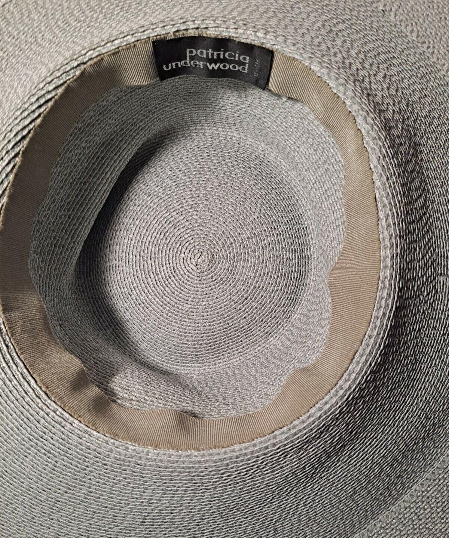Vtg Patricia Underwood Pale Aqua Straw Hat/Gray S… - image 10