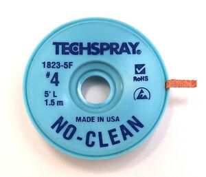 NO-CLEAN Entlötlitze 2,5mm breit, 1,5m auf ESD-Rolle, Hochwertig, Made in USA