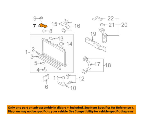 SUBARU OEM 09-16 Forester 2.5L-H4 Radiator-Upper Bracket 45124SC000